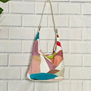 VINTAGE Colorful Patchwork Leather Handbag